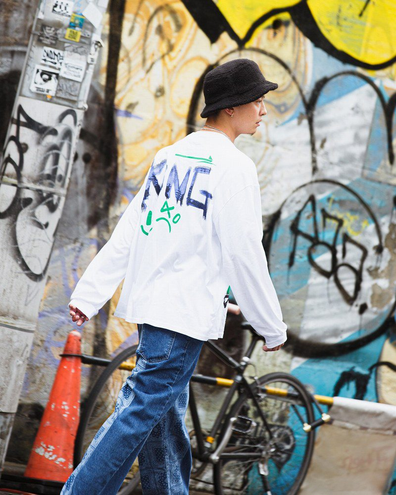 《2色》アングリーワニロングオーバーサイズTシャツの画像5